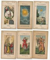 13 Cartes Cartonnees Pour Astrologue (scan Verso) - Astrologie