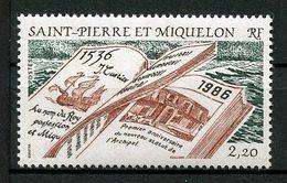 SPM MIQUELON 1986 N° 470 ** Neuf MNH Superbe Cote 1.70 €  Jacques Cartier Bateaux Boats Sailboat Transports - St.Pierre Et Miquelon