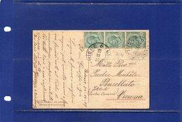 ##(DAN185)-1919-bella Cart. Illustrata  In Rilievo Della Robbia-Un Angelo,da Thiene Ann. Frazionario(69-114) Per Venezia - Storia Postale