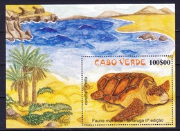 CAP VERT Bloc Et Feuillet 2002 YT N° BF 32 ** Tortues / Turtles - Cap Vert