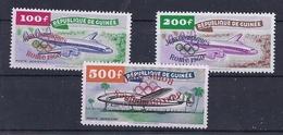180027945  GUINEA  YVERT  AEREO  Nº  11/3  **/MNH (Nº 13 CON SOBRECARGA INVERSA) - Guinea Francesa (1892-1944)