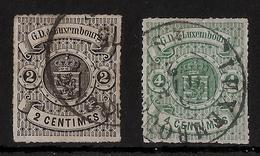 Luxemburg, No. 13, 15, Tres Bon, € 48,- , #a329 - 1859-1880 Wappen & Heraldik