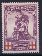 Belgium:  OBP Nr 128 MH/* Flz/ Charniere  1914  Signed/ Signé/signiert/ Approvato - 1914-1915 Croix-Rouge