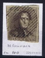 Belgium:  OBP Nr 1  Cancel 76 Louvain Leuven - 1849 Epauletten