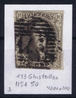 Belgium:  OBP Nr 3  Cancel 143 Ghistelles - 1849-1850 Medaillen (3/5)