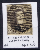 Belgium:  OBP Nr 6  Cancel 11 Seraing Distribution - 1851-1857 Médaillons (6/8)