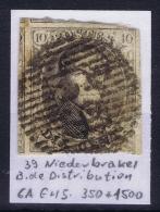 Belgium:  OBP Nr 6  Cancel 39  Nederbrakel Distribution - 1851-1857 Médaillons (6/8)