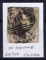 Belgium:  OBP Nr 6  Cancel 51 Grammont - 1851-1857 Médaillons (6/8)