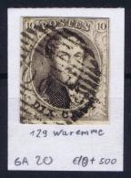 Belgium:  OBP Nr 6  Cancel 129 Wareme - 1851-1857 Médaillons (6/8)