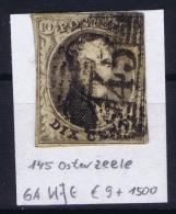 Belgium:  OBP Nr 6  Cancel 45 Gand - 1851-1857 Médaillons (6/8)