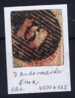 Belgium:  OBP Nr 8  Cancel 9 Audenaerde - 1851-1857 Médaillons (6/8)