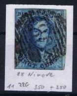 Belgium OBP Nr 11 Cancel Nr 88 Ninove - 1858-1862 Medaglioni (9/12)