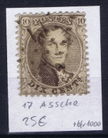 Belgium OBP Nr 14  Cancel  19 Ath - 1863-1864 Médaillons (13/16)