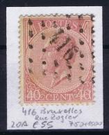Belgium OBP Nr 20a  Cancel Brux. (Rue Rogier) - 1865-1866 Profile Left