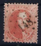Belgium OBP Nr 16A  CAncel 148 Ghistelles - 1863-1864 Medallions (13/16)