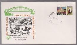 1970 Australia ORD RIVER Scheme Australian National Development Excelsior Unused FDC - FDC
