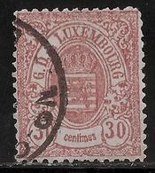 Luxemburg, Rare  No. 33,  30 C. 1875, Medium  Bon Etat  ,€ 575.-   , #a337 - 1859-1880 Wappen & Heraldik