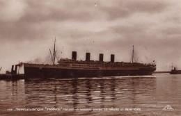 """Photo Carte Transatlantique """" France """" Faisant Le Service Entre Le Havre Et New-York - Passagiersschepen"""
