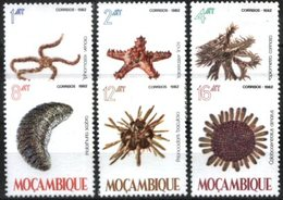MOZAMBIQUE, 1982, MARINE LIFE, EQUINDERMOS, R#341-46, MNH - Marine Life