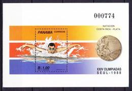 PANAMA Bloc Et Feuillet 1988 YT N° BF 40 ** Natation - Panama
