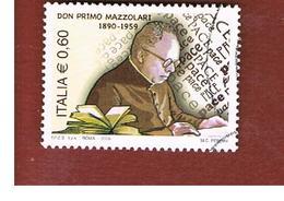 ITALIA REPUBBLICA  -   2009 DON MZZOLARI -   USATO  ° - 6. 1946-.. Repubblica