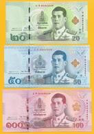 Thailand Set 20, 50, 100 Baht P-new 2018 UNC - Thailand