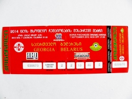 Entry Ticket From Georgia Football Match FIFA Match With Belarus 2012 - Tickets D'entrée