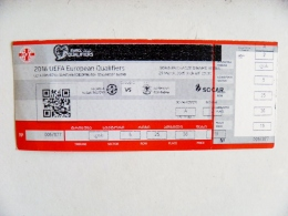 Entry Ticket From Georgia Football Match FIFA UEFA 2016 With Unknown Team From Germany - Tickets D'entrée