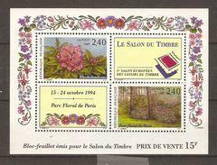 France - 1993 - Salon Du Timbre, Parc Floral De Paris -  Bloc 15 MNH - Blocs & Feuillets