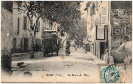 83 CUERS - La Route De Nice - Cuers
