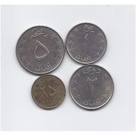 AFGHANISTAN 1980 FOUR CIRCULATED COINS SET - Afghanistan