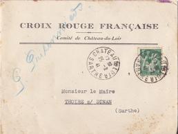 CHATEAU DU LOIR  DANS LA SARTHE  ENVELOPPE CROIX ROUGE FRANCAISE 25/2/1941 - 1921-1960: Periodo Moderno