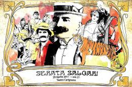[MD1569] CPM - SERATA SALGARI - TEATRO CARIGNANO TORINO - CON ANNULLO 23.4.2011 - NV - Scrittori