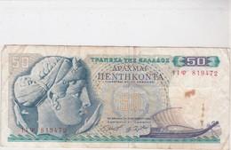 Billet 50 Drachmai - Grecia