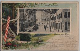 Gruss Aus Wyl Wil - Untere Vorstadt, Jauchewagen, Animee - Relief Präge-Karte - SG St. Gall