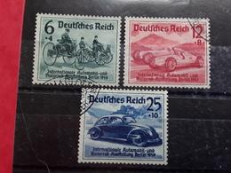 Allemagne / III E Reich 1939 Salon De L'automobile Berlin, Serie Yvert 627 / 629, Obl , TB  Cote 22 Euros - Usados