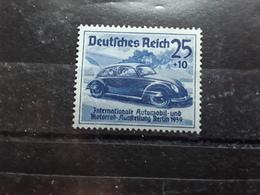 Allemagne / III E Reich 1939 Salon De L'automobile Berlin, Yvert 629, 25 Pf Bleu Auto Coccinelle Vw  Neuf * MH , TB - Nuevos