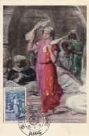 Carte Postale Algérie Oran 1957 Oeuvres Sociales De L'Armée - Algérie (1924-1962)