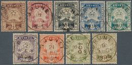 05000 Brunei: 1895, Star And Local Scene Part Set Of Nine (MISSING The 25c.) Fine Used Mostly With Full Br - Brunei (1984-...)