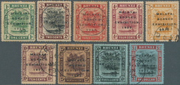 05030 Brunei: 1922, Malaya-Borneo Exhibition Complete Set Of 9 Fine Used (3c. Minor Faults And A Few Stamp - Brunei (1984-...)