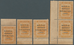 05032 Brunei: 1922 Malaya-Borneo Exhibition Group Of 25 Mint Stamps Denom. 2c.(x8), 3c.(x6), 4c.(x6) And 5 - Brunei (1984-...)