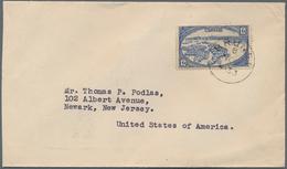 05040 Brunei: 1933, 12 C Blue, Single Franking On Cover With Cds BRUNEI, 8 NOV 1933, Sent To Newark USA. F - Brunei (1984-...)