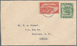 05041 Brunei: 1935, 2 C Green And 6 C Scarlet, Mixed Franking On Cover With Violet Cds BRUNEI, 10 JUL 1935 - Brunei (1984-...)