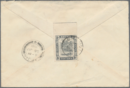 05047 Brunei: 1941, Letter Addressed To Kuching Franked 8c On Reverse Tied By BRUNEI Datestamp With LABUAN - Brunei (1984-...)