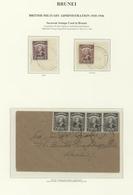 05068 Brunei: 1946, SARAWAK USED IN BRUNEI: Sarawak Sir Charles Vyner Brooke 2c. Black Optd. 'BMA' Four Si - Brunei (1984-...)