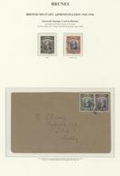 05069 Brunei: 1946, SARAWAK USED IN BRUNEI: Sarawak Sir Charles Vyner Brooke 3c. Green And 5c. Violet With - Brunei (1984-...)