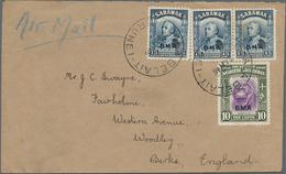 05070 Brunei: 1946, SARAWAK & NORTH BORNEO USED IN BRUNEI: Sarawak Sir Charles Vyner Brooke 15c. Blue (pai - Brunei (1984-...)