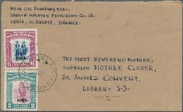 05072 Brunei: 1946, NORTH BORNEO USED IN BRUNEI: North Borneo Pictorial Definiitives 6c. Mounted Bajaus An - Brunei (1984-...)