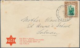 05075 Brunei: 1946, NORTH BORNEO USED IN BRUNEI: North Borneo Pictorial Definiitive 15c. Dyak With Opt. 'B - Brunei (1984-...)