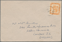 05097 Brunei - Stempel: 1936, 4 C Orange, Single Franking On Printed Matter Cover, Tied By Part Of Single - Brunei (1984-...)